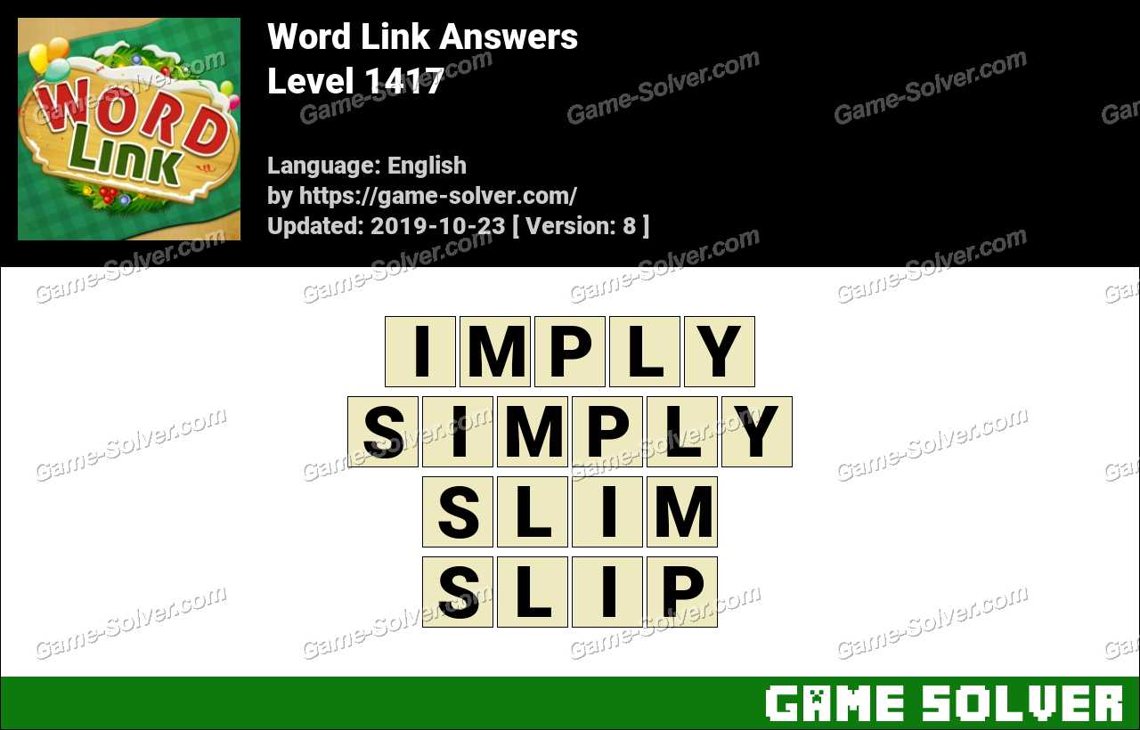 Word Link Level 1417 Answers