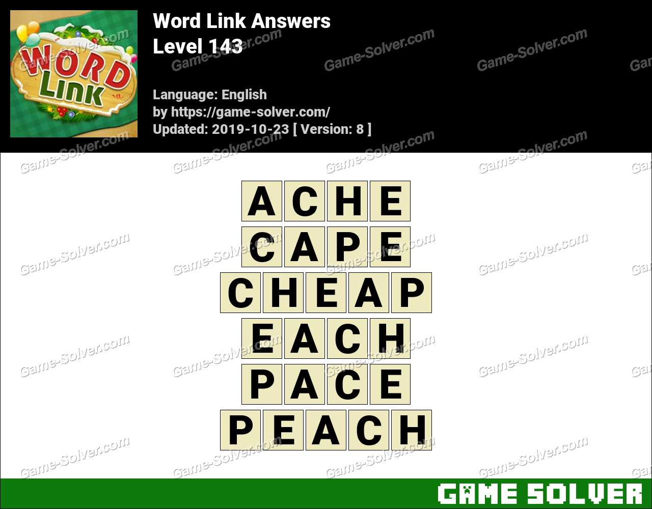 Word Link Level 143 Answers