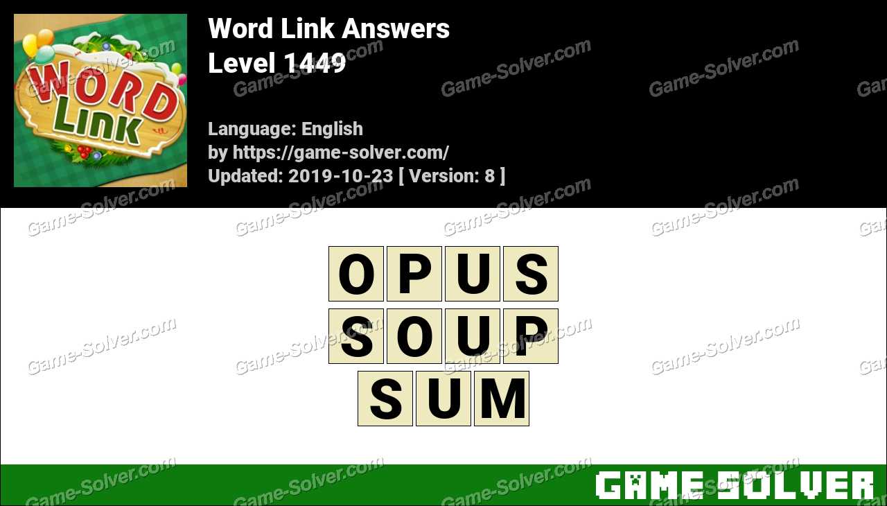Word Link Level 1449 Answers