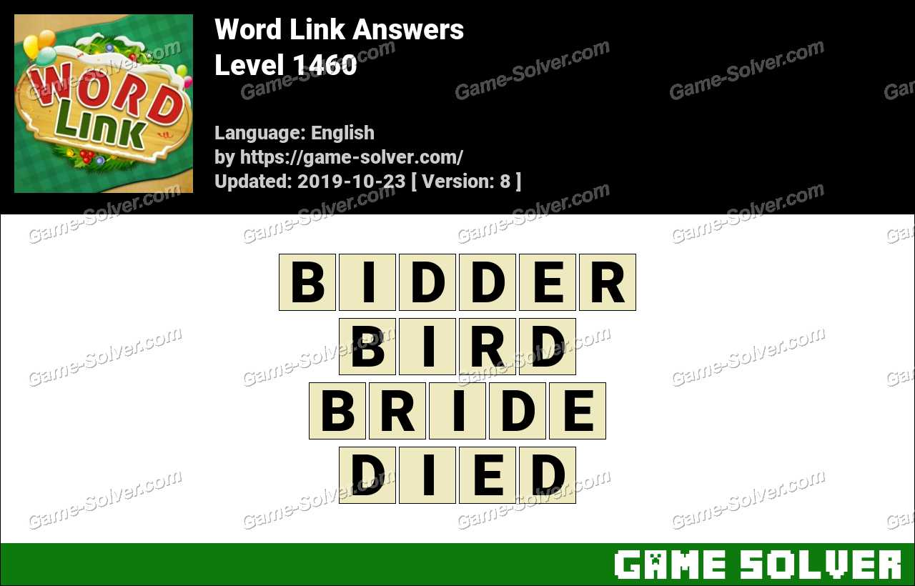 Word Link Level 1460 Answers