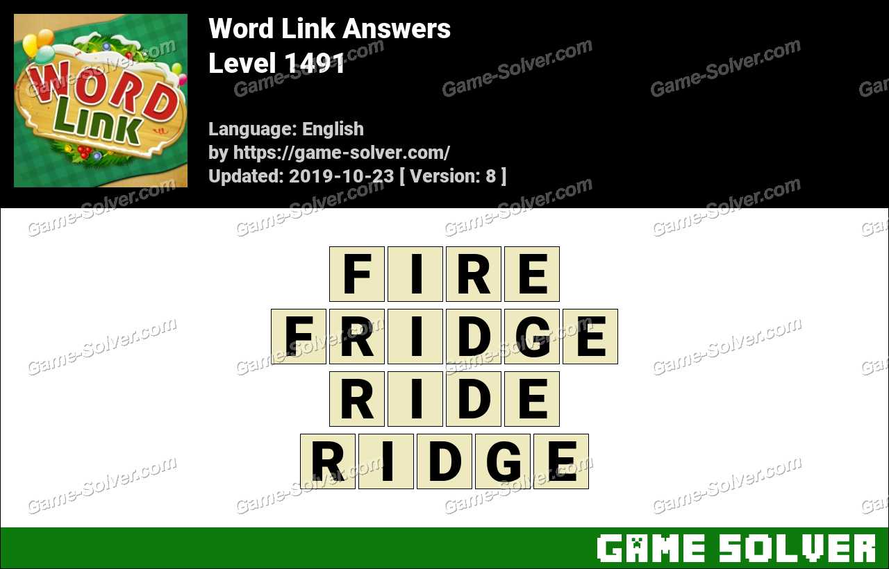 Word Link Level 1491 Answers