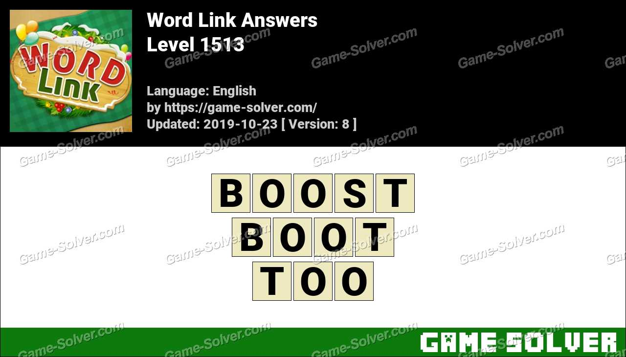 Word Link Level 1513 Answers