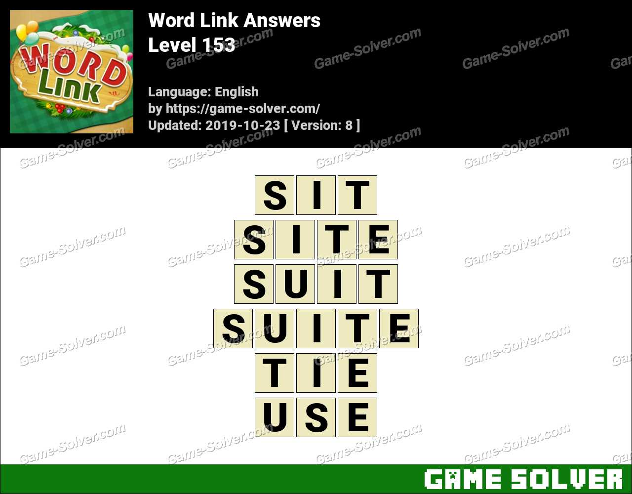 Word Link Level 153 Answers
