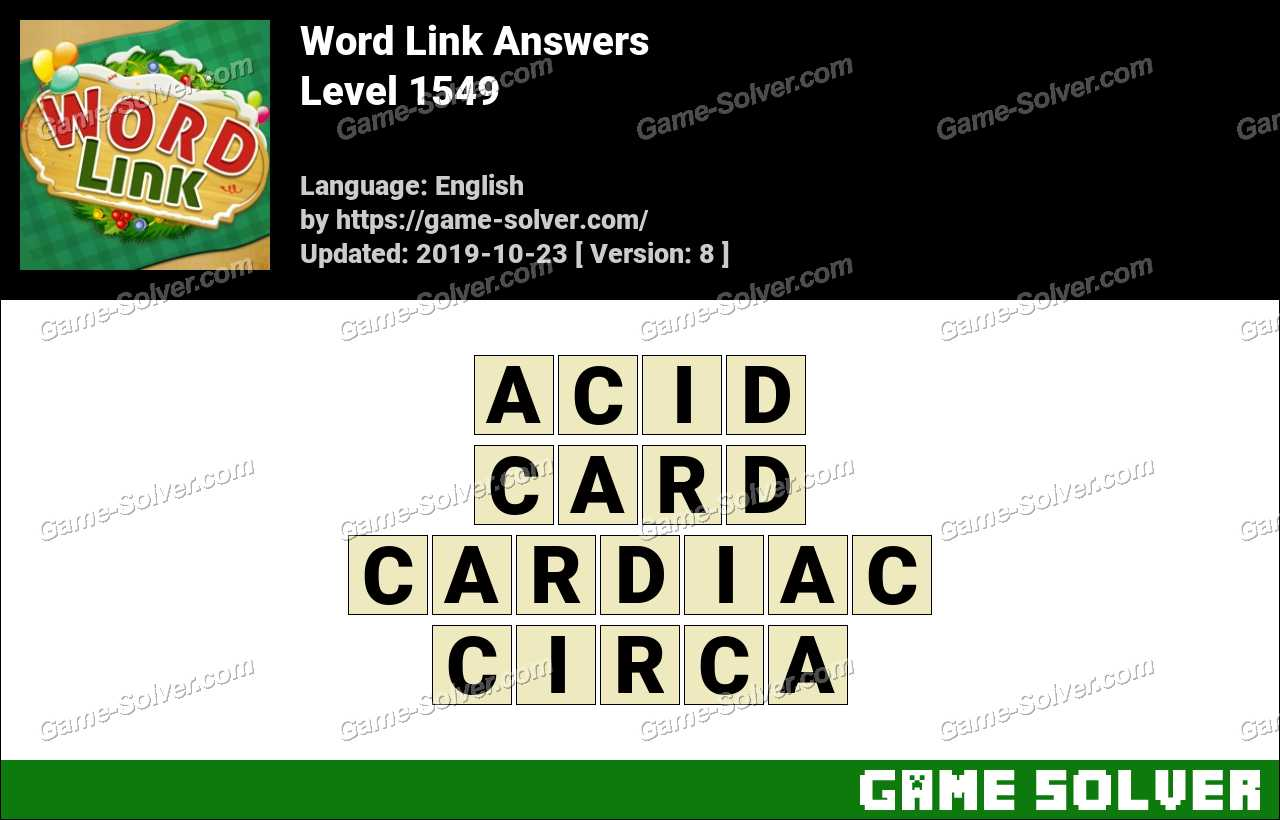 Word Link Level 1549 Answers