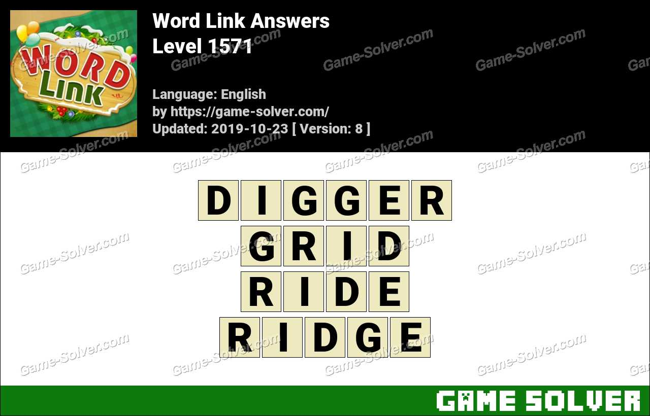 Word Link Level 1571 Answers