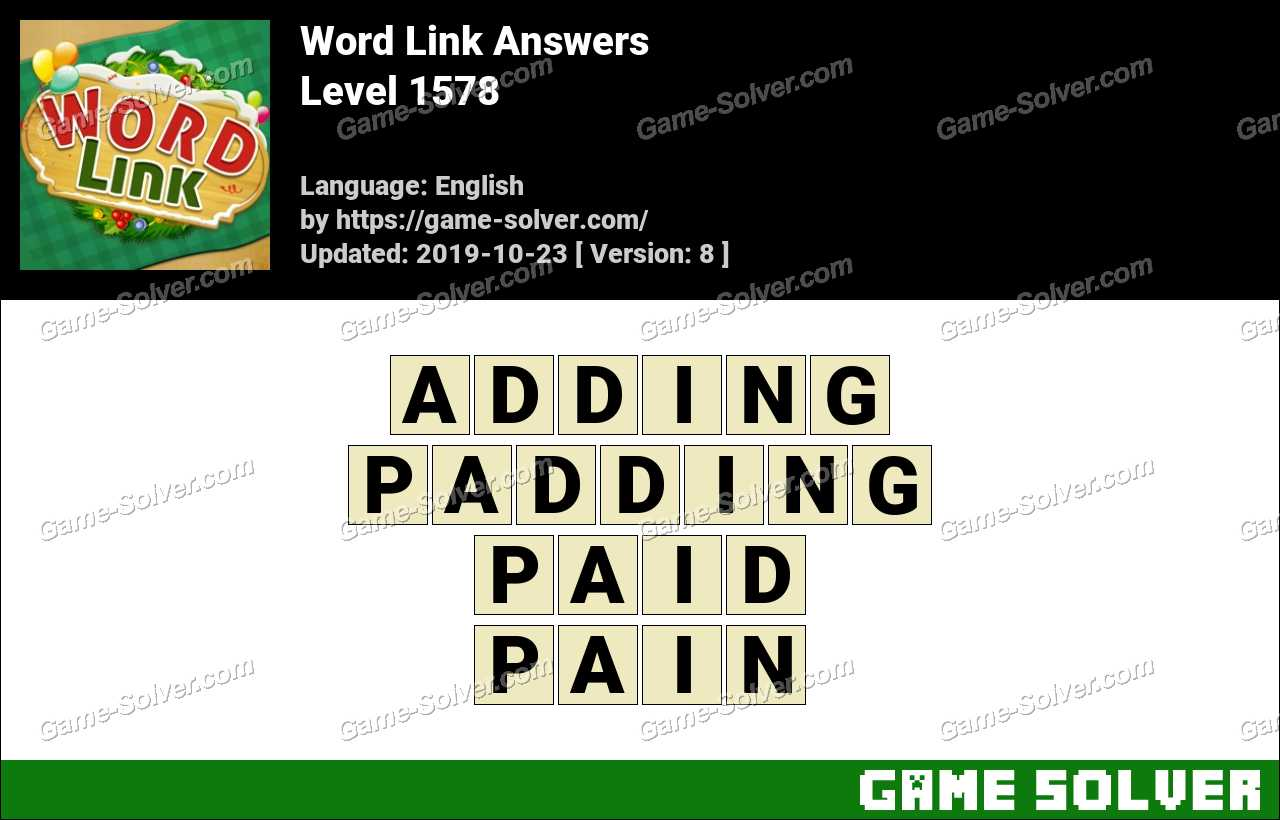 Word Link Level 1578 Answers