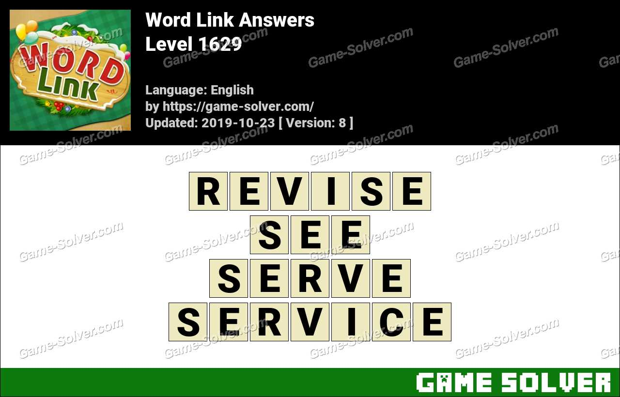 Word Link Level 1629 Answers