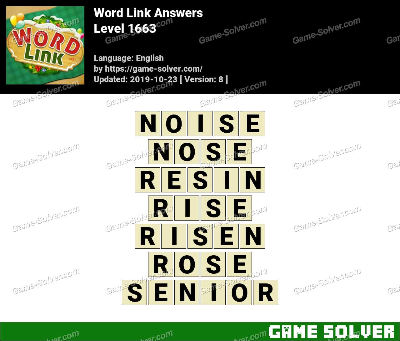 Word Link Level 1663 Answers