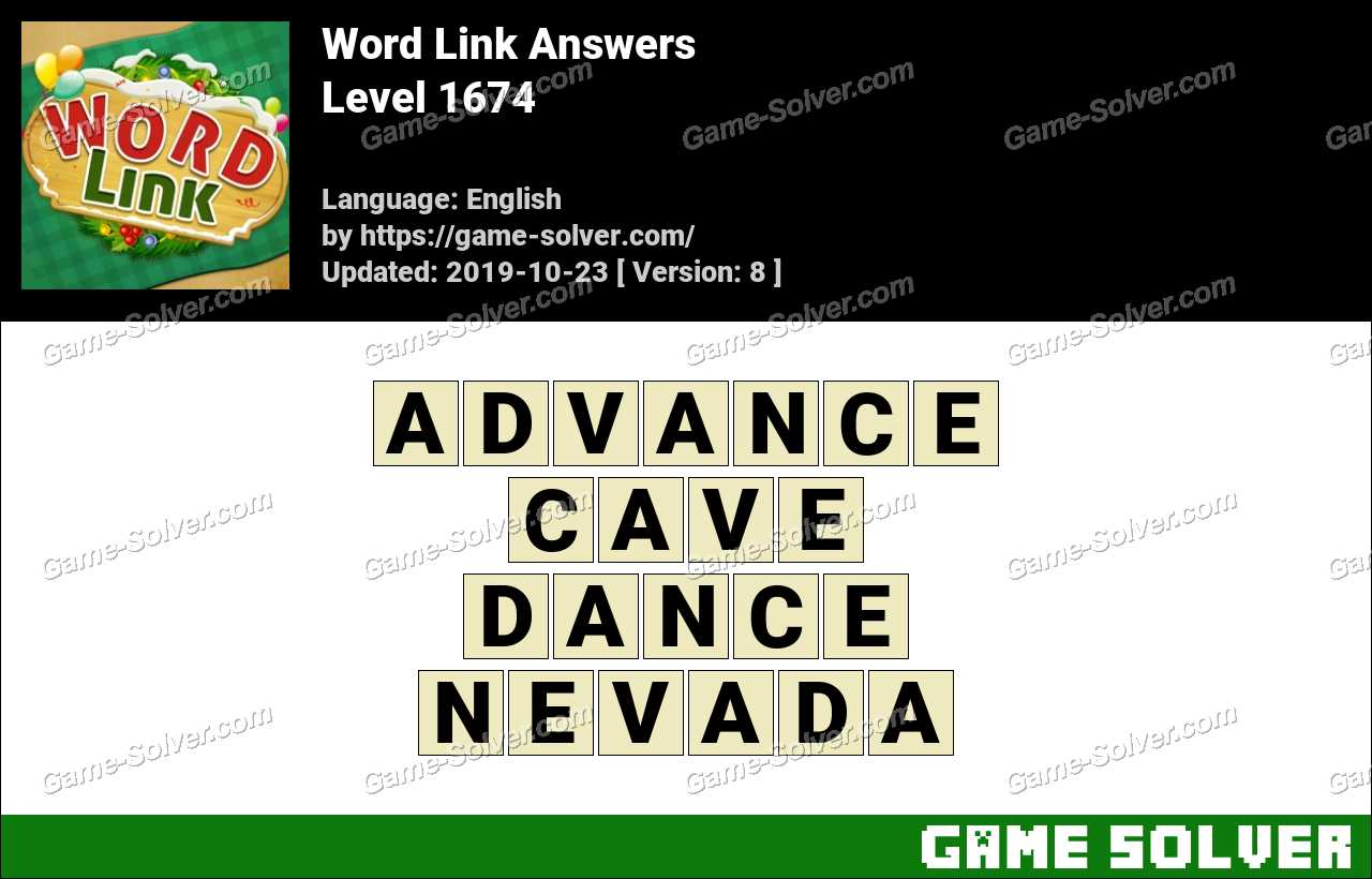 Word Link Level 1674 Answers