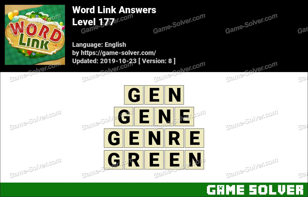 Word Link Level 177 Answers