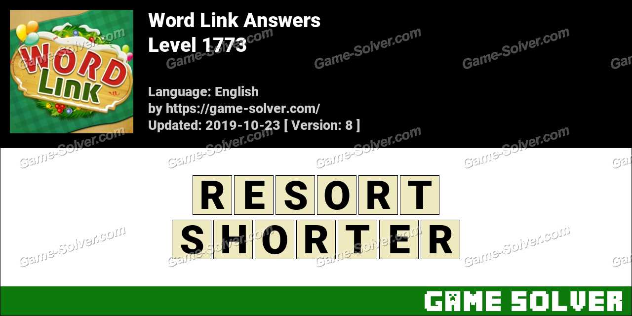 Word Link Level 1773 Answers