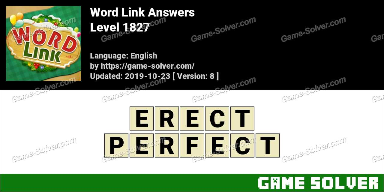Word Link Level 1827 Answers