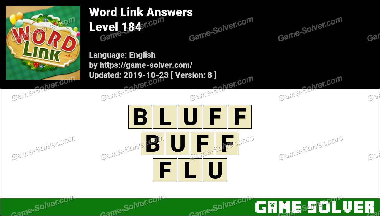 Word Link Level 184 Answers