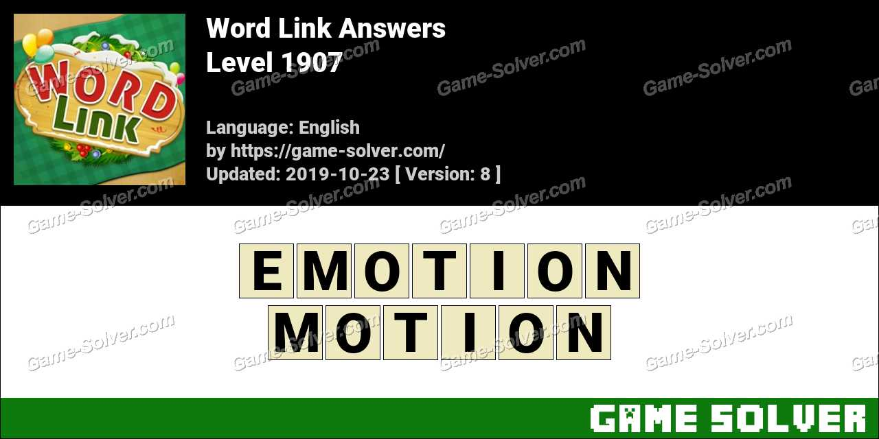Word Link Level 1907 Answers