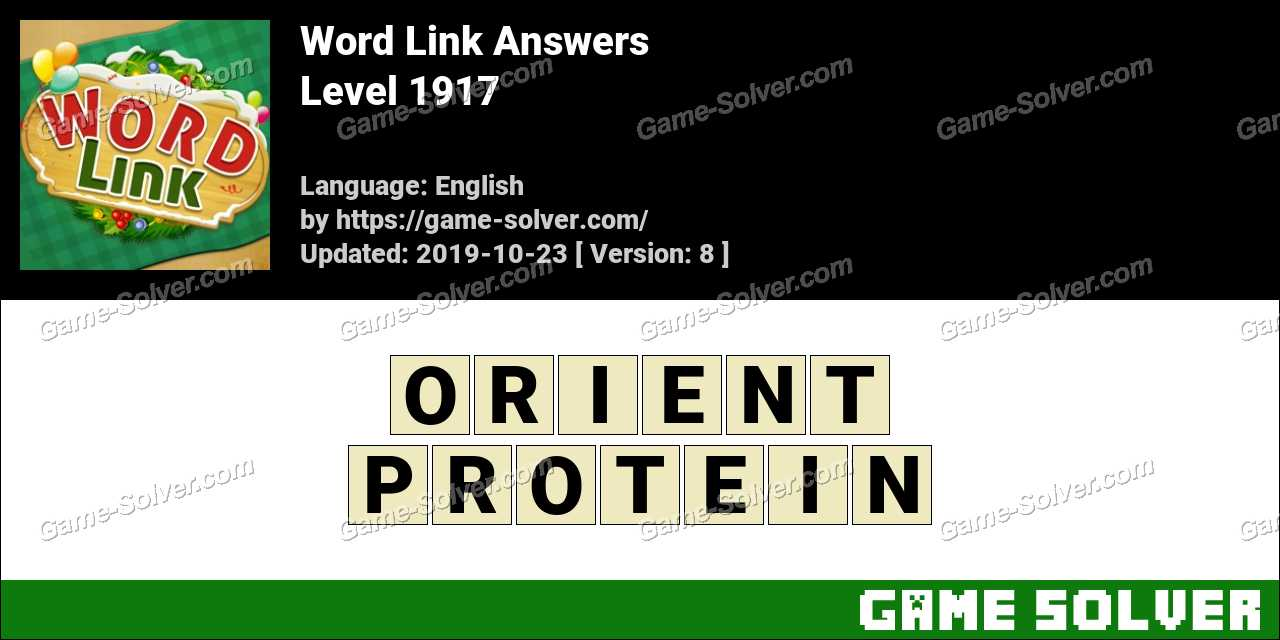 Word Link Level 1917 Answers