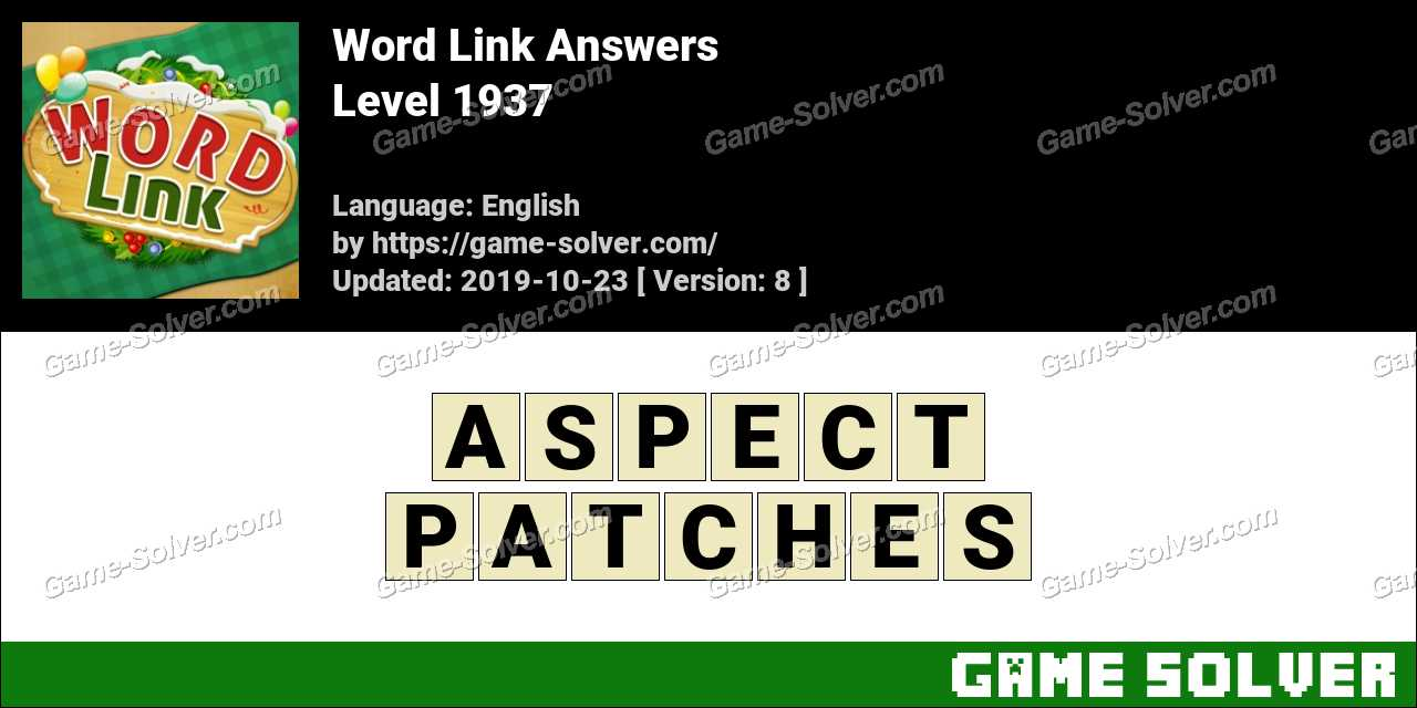 Word Link Level 1937 Answers