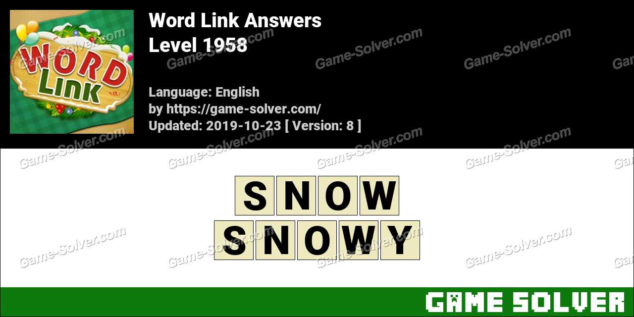 Word Link Level 1958 Answers