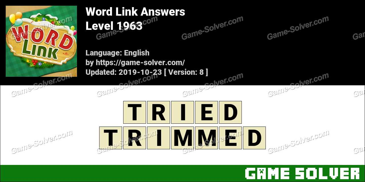 Word Link Level 1963 Answers
