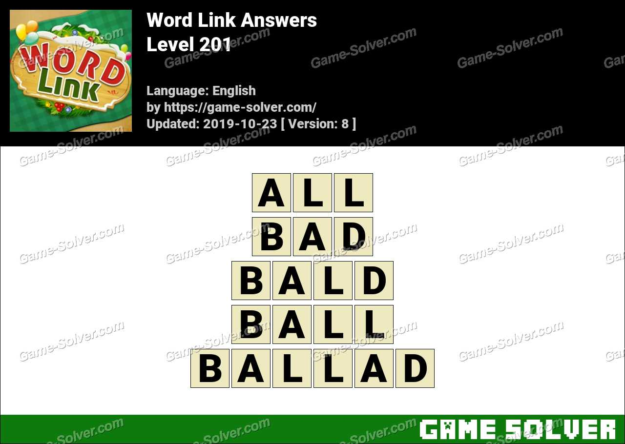 Word Link Level 201 Answers