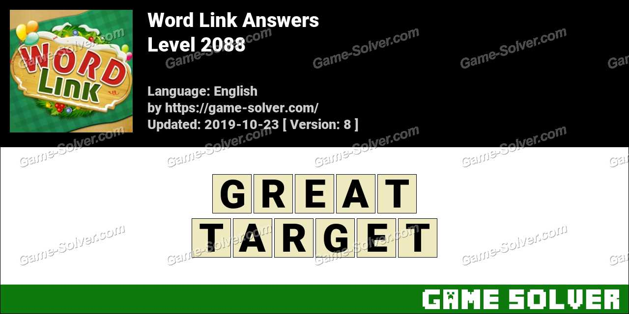 Word Link Level 2088 Answers