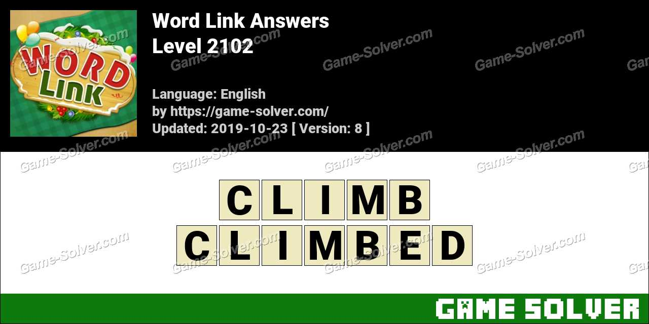 Word Link Level 2102 Answers