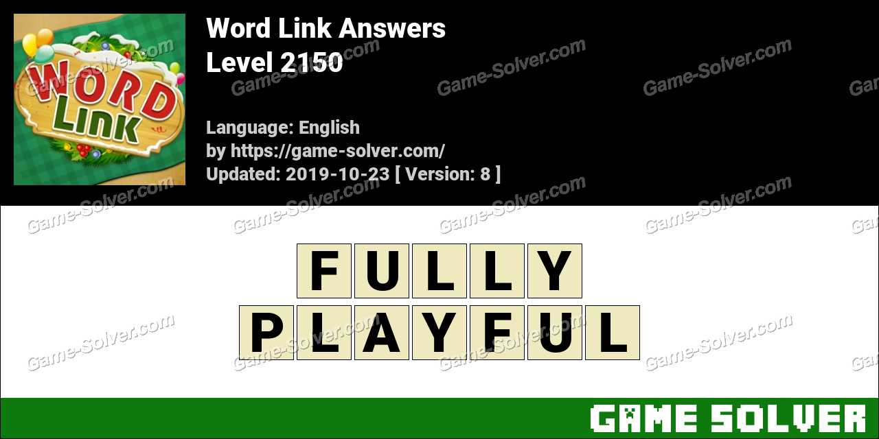 Word Link Level 2150 Answers
