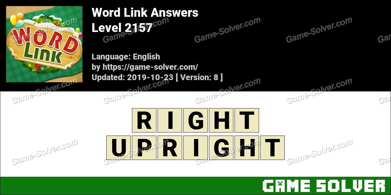 Word Link Level 2157 Answers