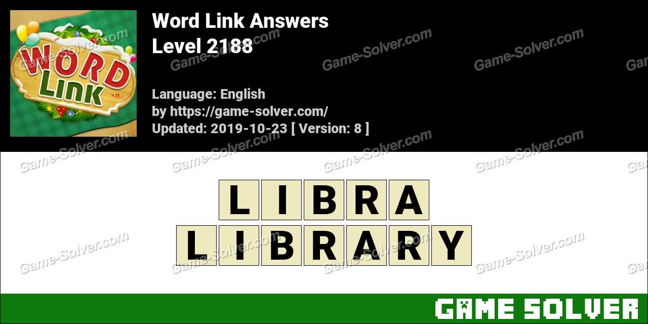 Word Link Level 2188 Answers