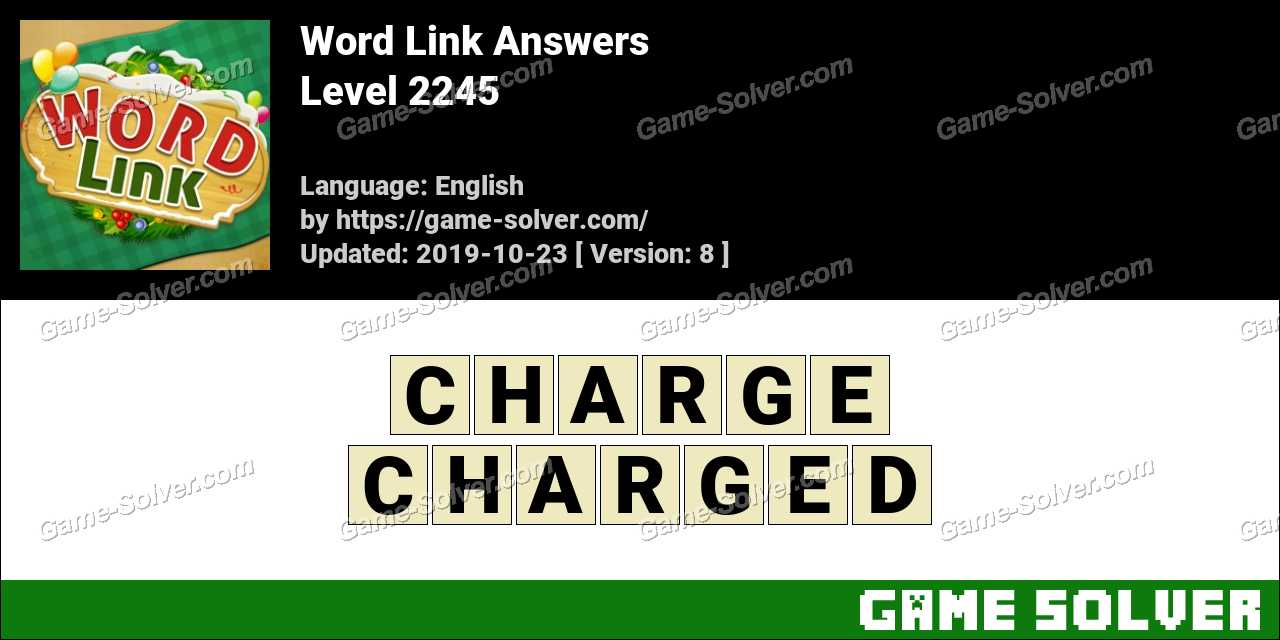 Word Link Level 2245 Answers