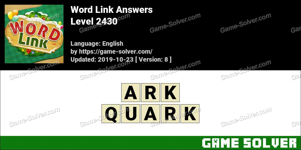 Word Link Level 2430 Answers