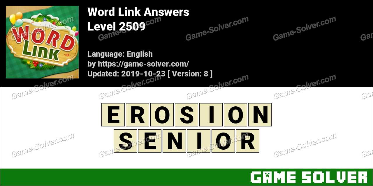 Word Link Level 2509 Answers