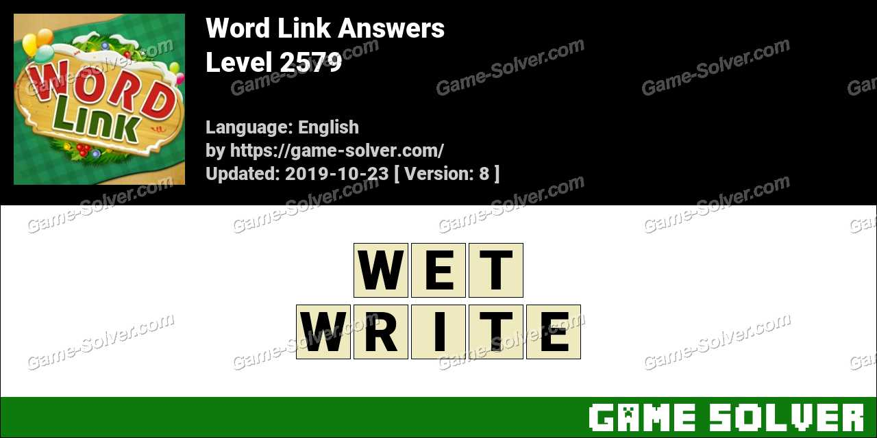 Word Link Level 2579 Answers