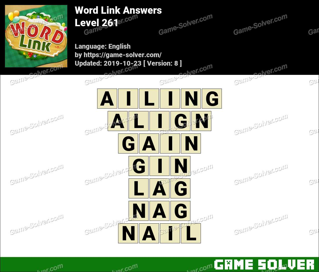Word Link Level 261 Answers