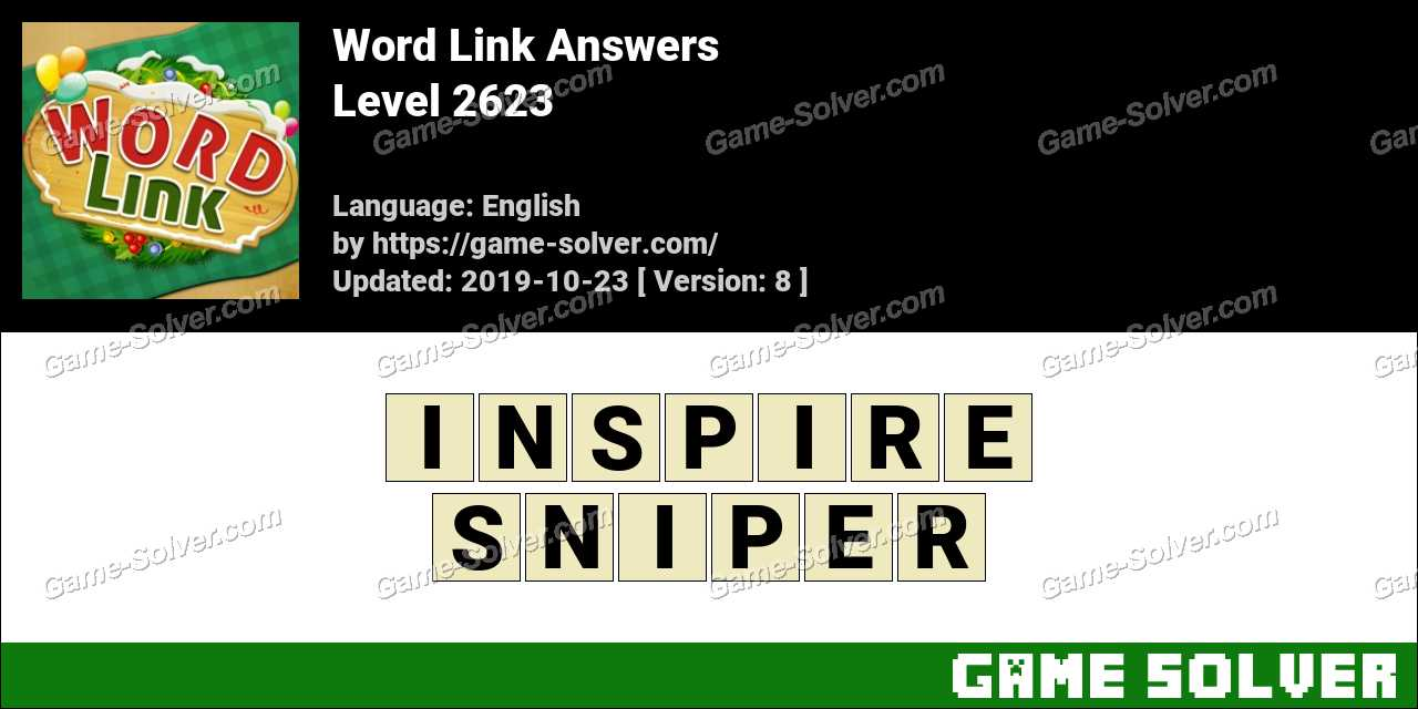 Word Link Level 2623 Answers