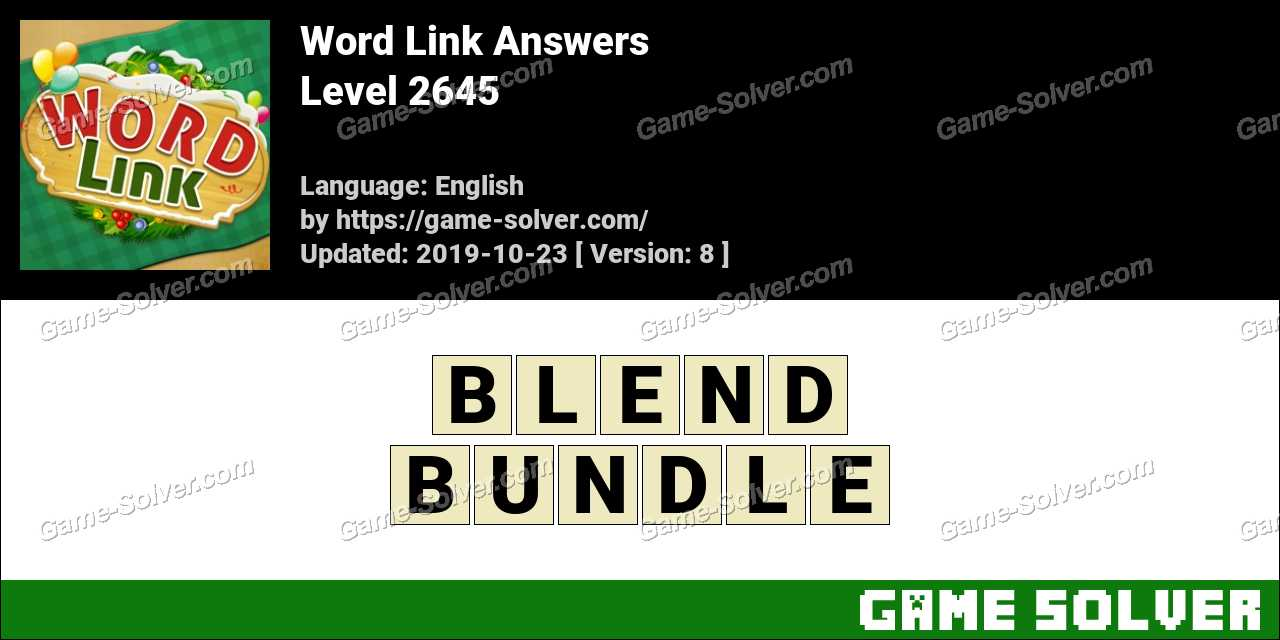 Word Link Level 2645 Answers