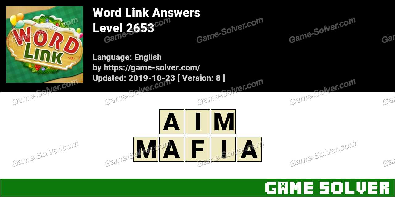 Word Link Level 2653 Answers