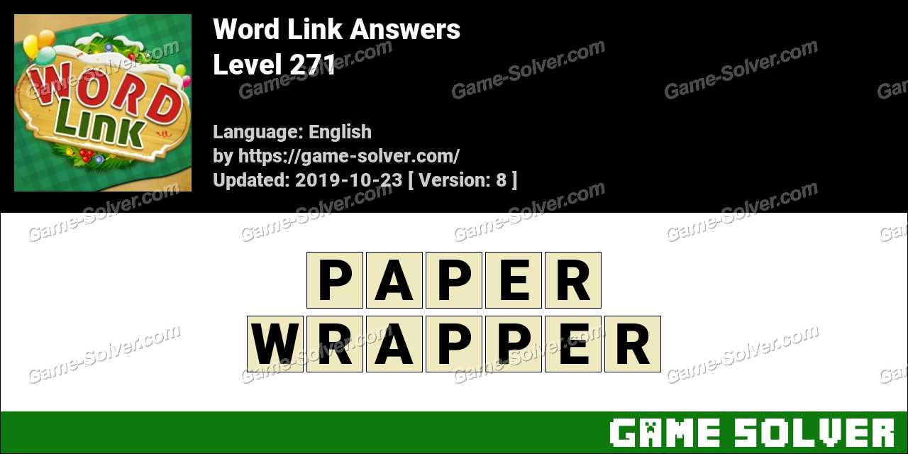 Word Link Level 271 Answers