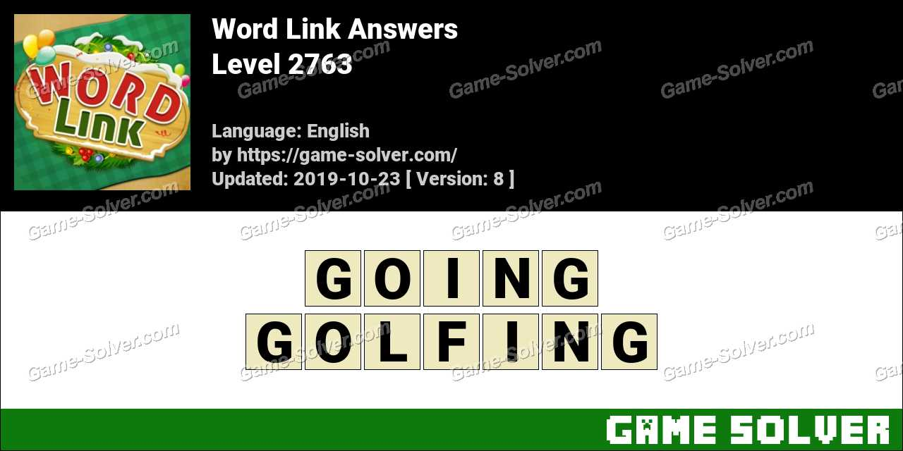 Word Link Level 2763 Answers