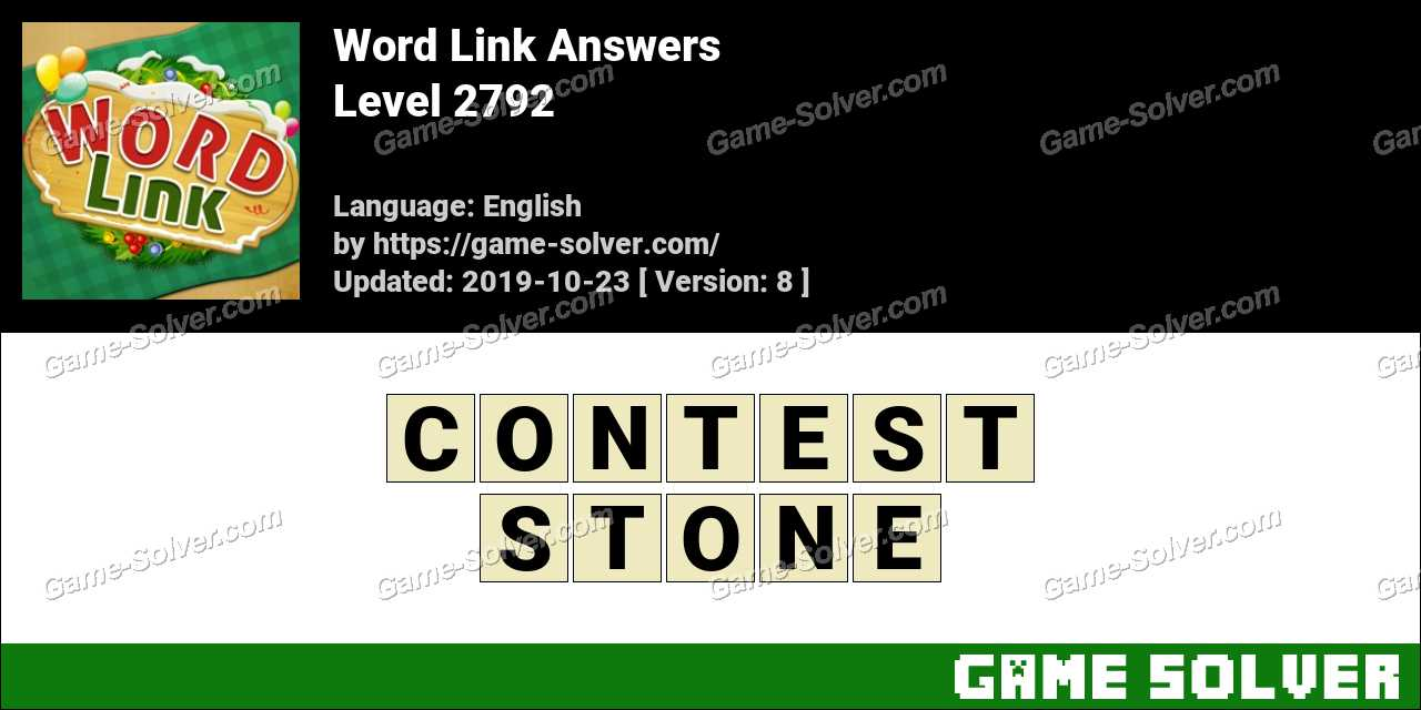Word Link Level 2792 Answers