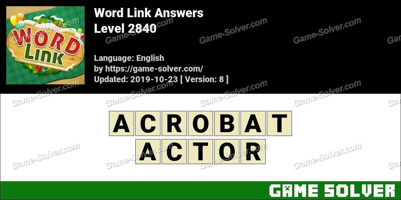 Word Link Level 2840 Answers