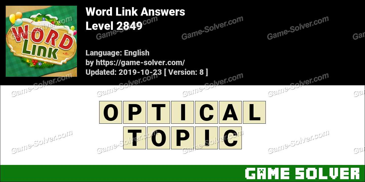 Word Link Level 2849 Answers
