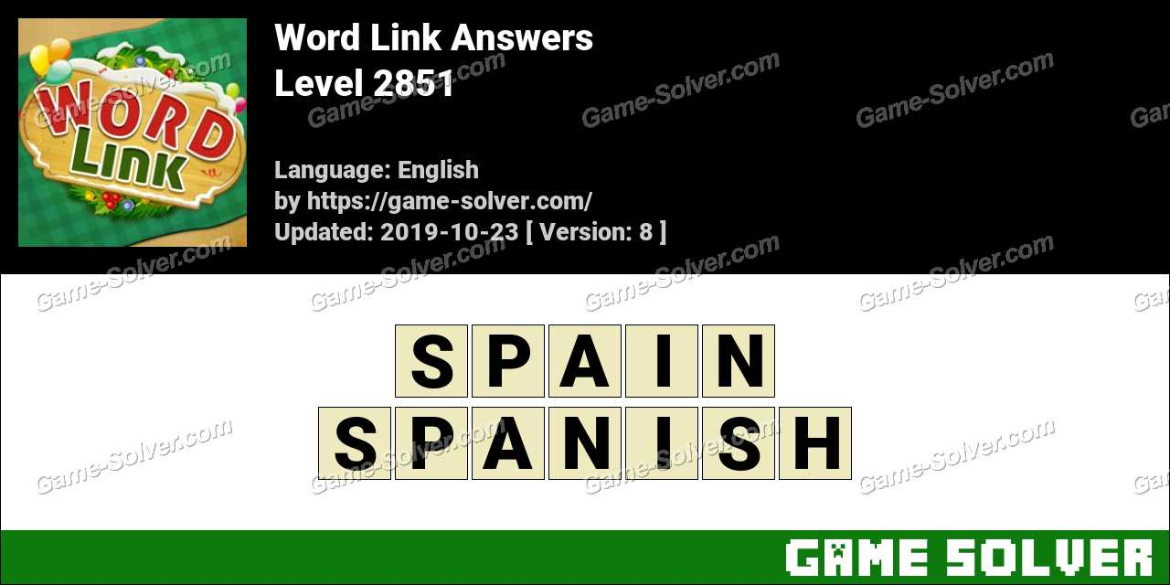 Word Link Level 2851 Answers
