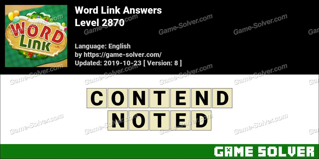 Word Link Level 2870 Answers