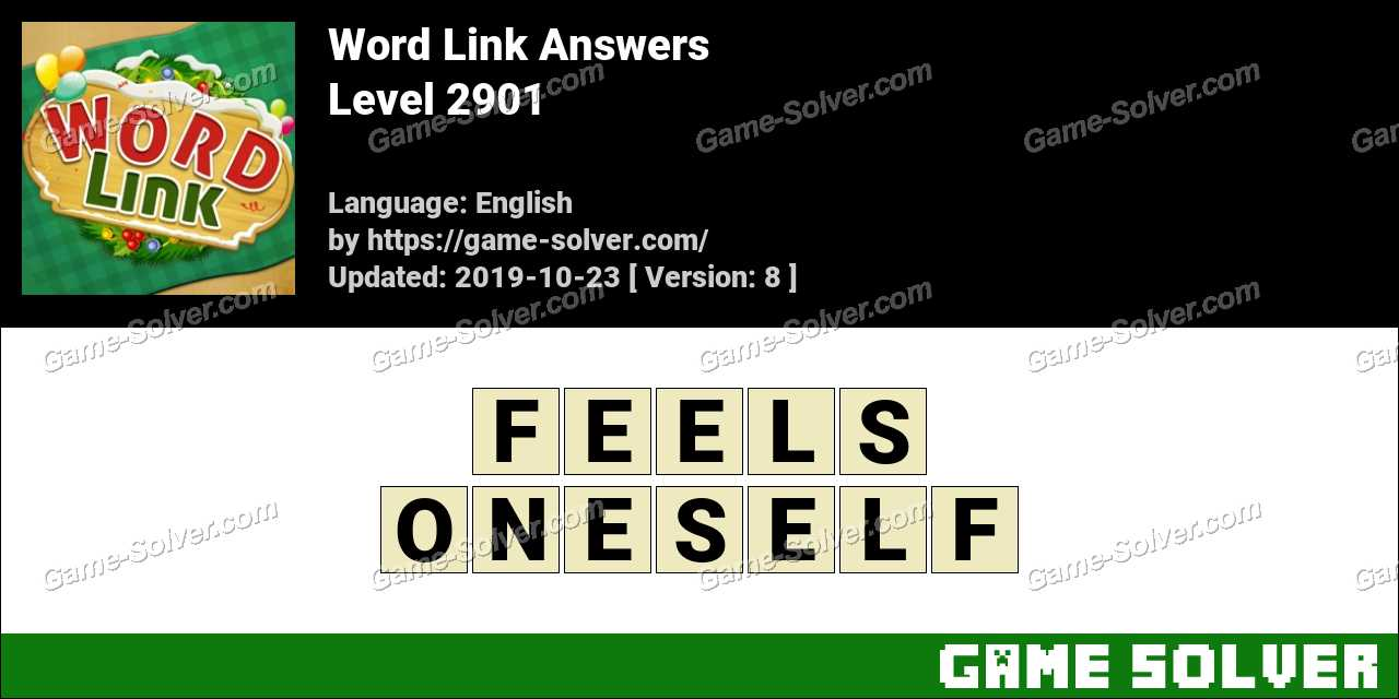 Word Link Level 2901 Answers