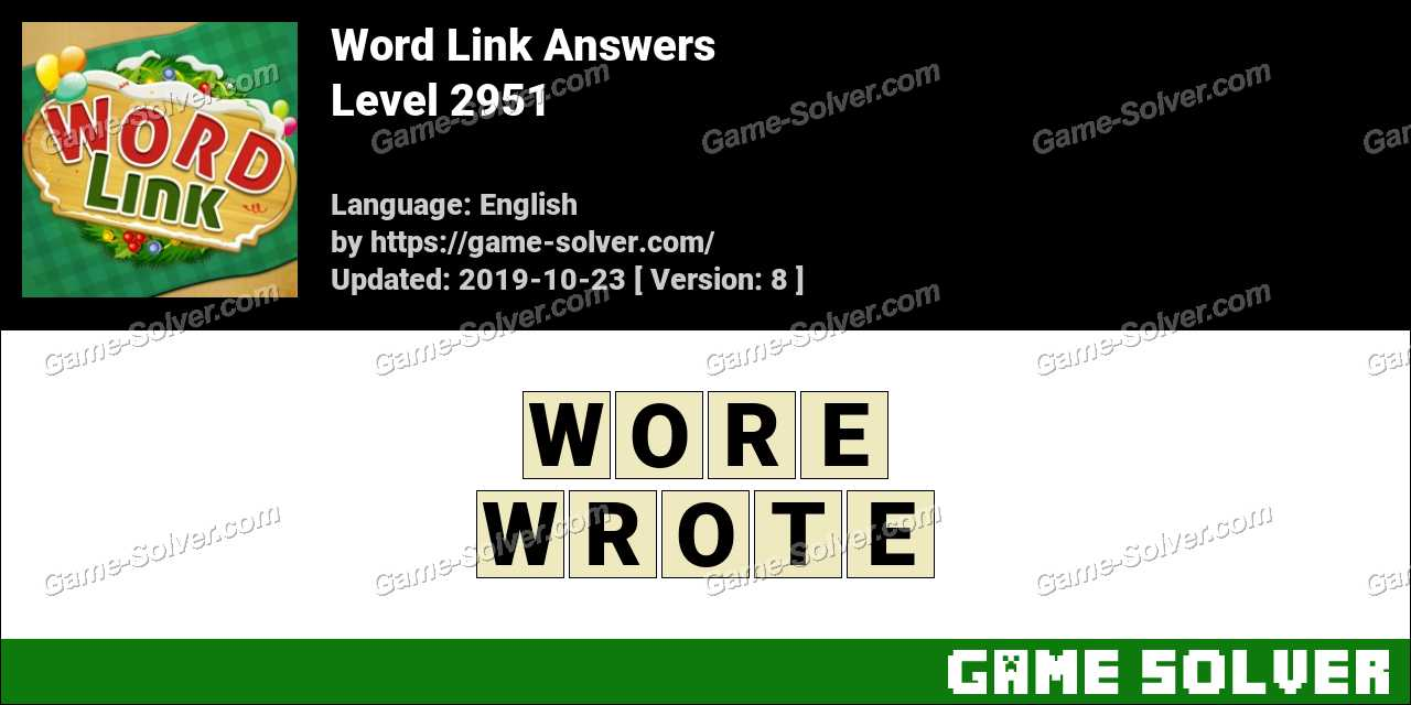 Word Link Level 2951 Answers