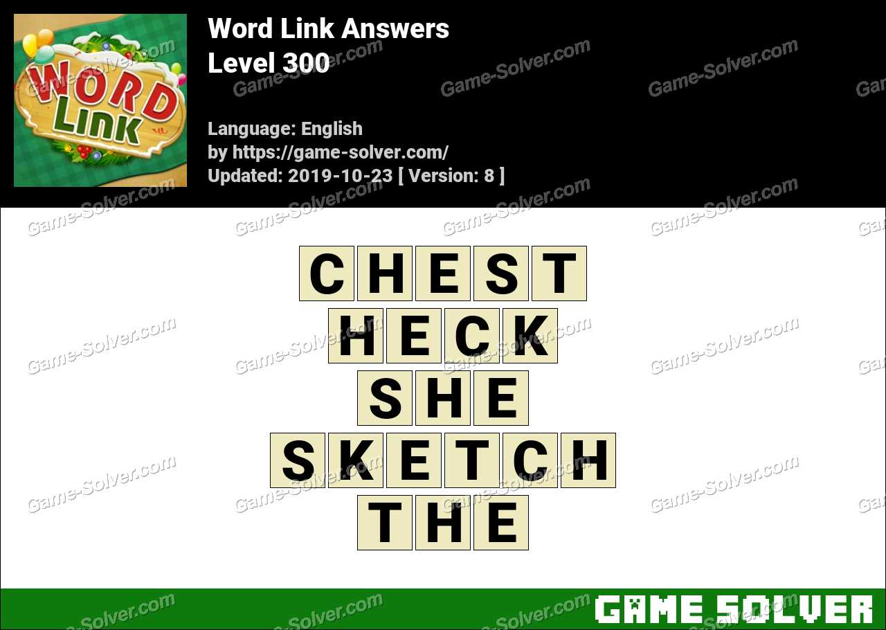 Word Link Level 300 Answers
