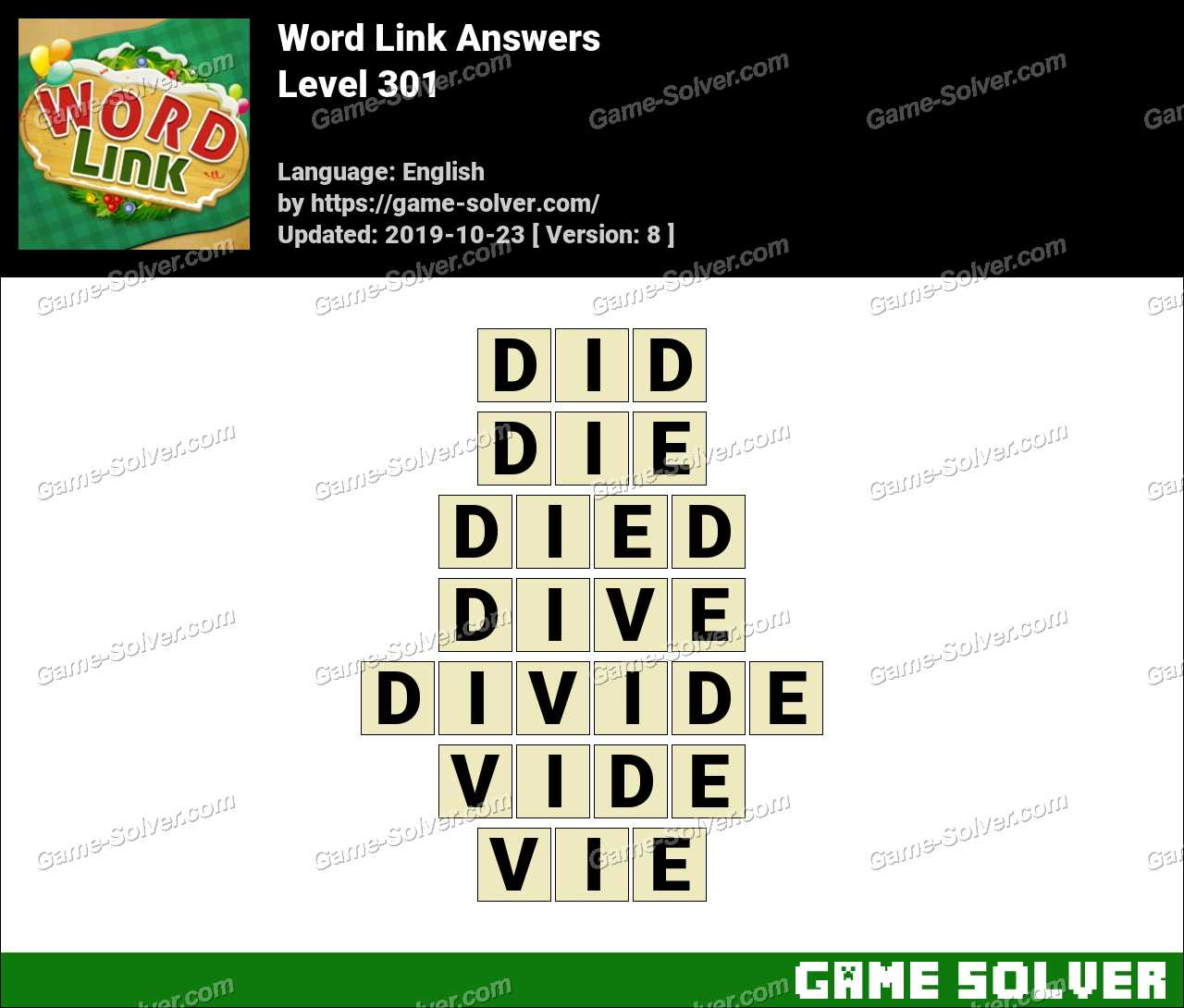 Word Link Level 301 Answers