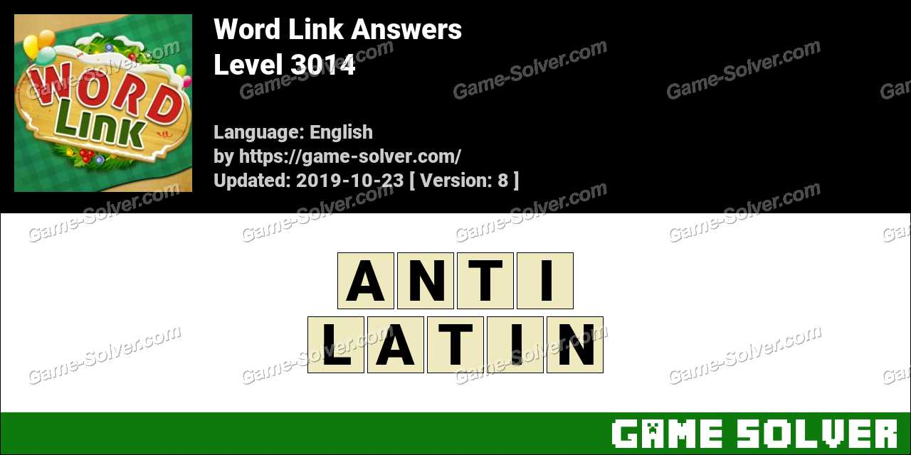 Word Link Level 3014 Answers