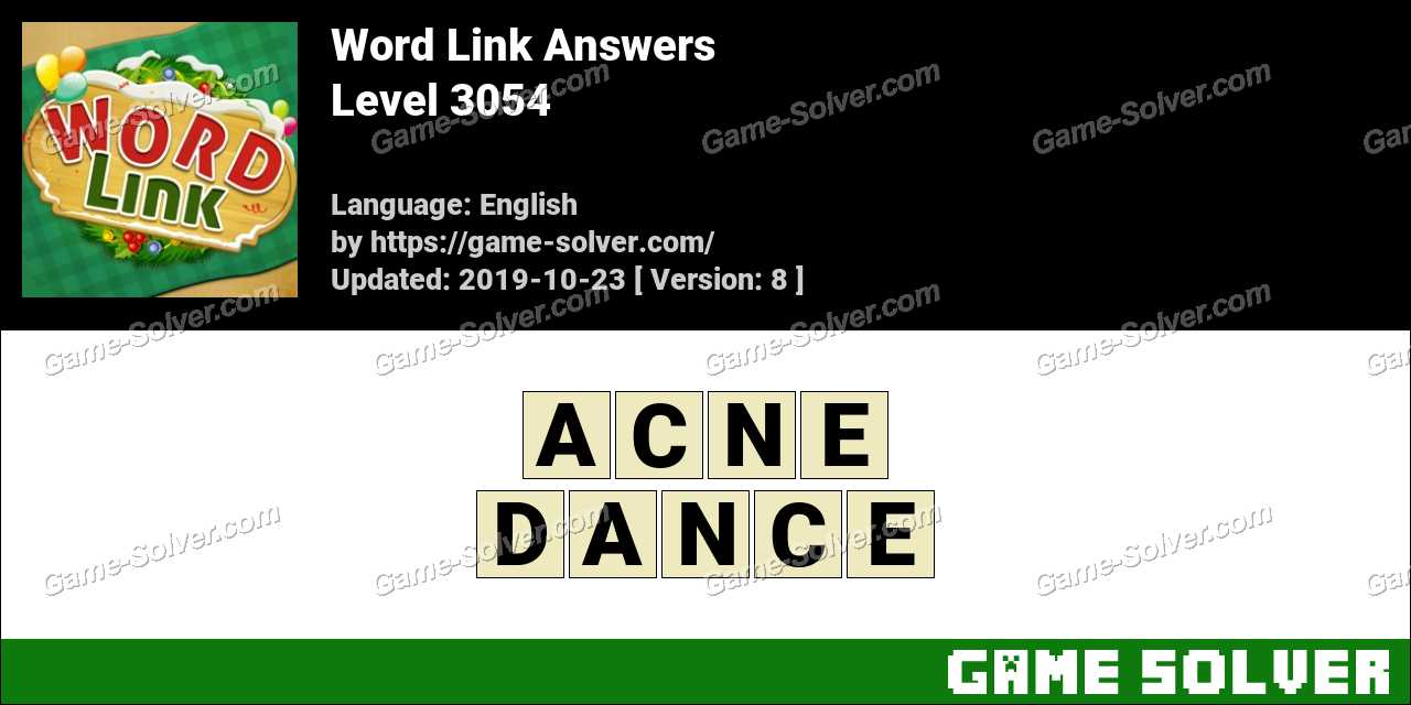 Word Link Level 3054 Answers