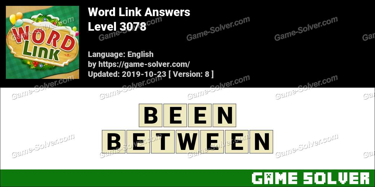 Word Link Level 3078 Answers
